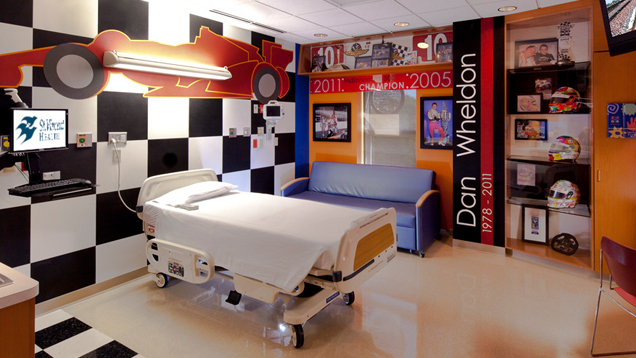 The Racecar Room - A specialty room for the patients at Peyton Manning Children's Hospital