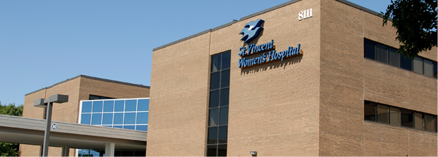 St. Vincent Women's Hospital Exterior