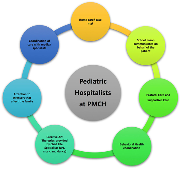 Pediatric hospitalists flow chart