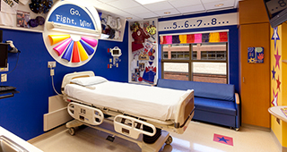 A specialty room at Peyton Manning Children's Hospital at St. Vincent in Indianapolis